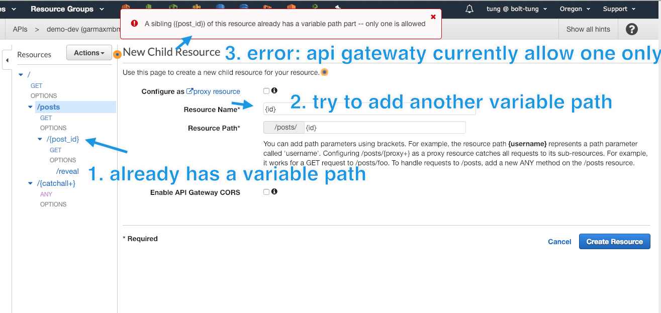 Jets deploy: CREATE_FAILED AWS::CloudFormation::Stack ApiGateway